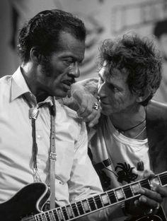 Chuck Berry et Keith Richard par Terry O'Neill