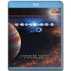 Diseño publicitario de DVD's - Stop Diseño Gráfico - Diseño de Cómo se formó el sistema solar - El universo en 3D - History Channel.
