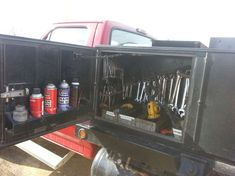 Viewing A Thread Service Truck Tool Storage Truck Tools, Truck Tool Box, Welding Gear, Welding Rigs, Truck Storage, Tool Storage, Utility Truck Beds, Flatbed Truck Beds, Mobile Welding
