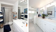 Bathroom Design Gallery | Before & After Remodeling Photos - BEFORE REMODEL   |   AFTER REMODEL