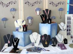 jewelry booth ideas - February 24 2019 at Art And Craft Shows, Craft Show Ideas, Arts And Crafts, Jewelry Booth, Jewelry Show, Jewellery Stand, Jewellery Displays, Jewelry Making, Craft Booth Displays