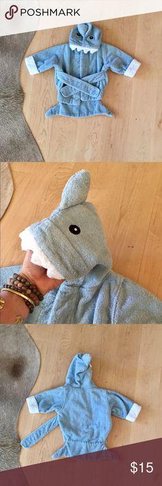 Baby Aspen Blue Terry Shark Bathrobe Baby Aspen Blue Terry Shark Bathrobe. So stinking cute! Loved but lots of life left. Baby Aspen Pajamas Robes