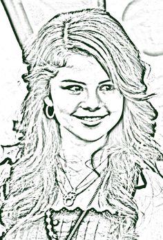 wizardscoloring pagesselena gomez aka alex russo Selena