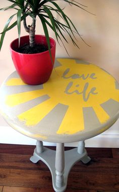 L45. Upcycled & Original Side Table Handpainted In by HarperHarper01, £45.00