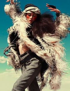 November 2010 issue of Vogue Germany is tremendously untamed thanks to 'Wild Dreams' by Greg Kadel, an editorial featuring model Liu Wen.