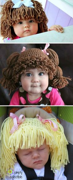 Cabbage Patch Doll Hat Crochet Pattern Are you on the hunt for a Crochet Cabbage Patch Hats Pattern? You've come to the right place. We have lots of free patterns plus video tutorials. Baby Girl Hats, Girl With Hat, Granny Square Crochet Pattern, Crochet Patterns, Hat Patterns, Crochet Crafts, Knit Crochet, Crochet Toys, Cabbage Patch Hat