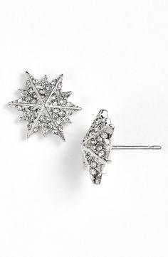 Louise et Cie 'Micro Pavé' Star Stud Earrings