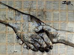 "Saatchi Art Artist: Loui Jover; Ink 2014 Drawing ""meeting"""