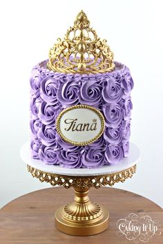 Caking It Up - {lilac love} This lilac buttercream rosettes cake...