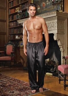 Guys, we ladies love it when you put on something sexy and classy for love making! These soft, silky pj pants will make it fun for her to rub up against you…just to see what happens! #sexyfortherestofus