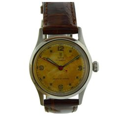 Vintage Rolex Tudor Stainless Steel wrist watch, circa This Swiss Oyster model wrist watch has original patinated dial and luminous hands and Antique Watches, Vintage Watches, Factory House, Historical Women, Historical Photos, Stainless Steel Rolex, Rolex Tudor, Viking Woman, Watch Companies