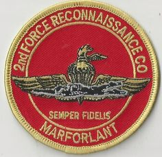 USMC PATCH - 2ND FORCE RECONNAISSANCE COMPANY - MARFORLANT