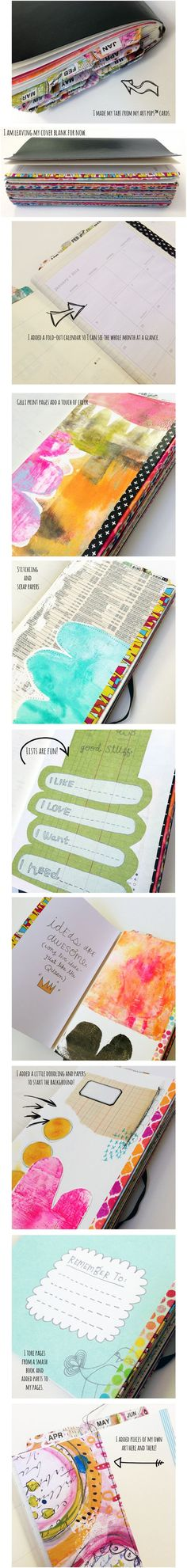 Washi tape the pages to make a beautiful journal.