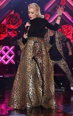 "Gwen Stefani in custom R&M performs on ""The Ellen DeGeneres Show'. #bestdressed"