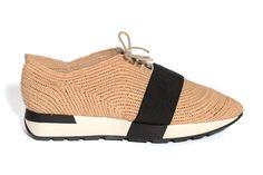 Balenciaga R16 rafia sneakers