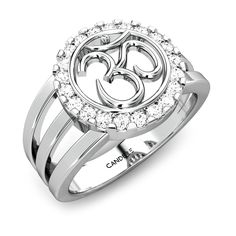 Candere Om Diamond Ring