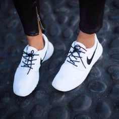 Shoes are her pedestal. #nike - Get flat with Flat Tummy Tea.