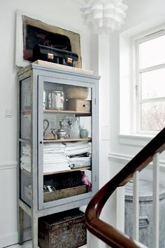 great cabinet ~ with old windows...