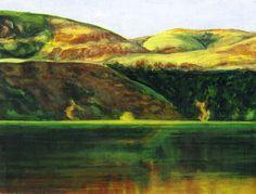 Landscape Along the River - Acrylic on Hardboard - 6 in x 8 in
