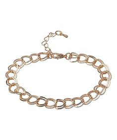 Loving this Goldtone Double Cable Chain Bracelet on #zulily! #zulilyfinds
