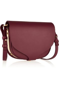 8ec916d2b3ee Plum leather (Cow) Snap-fastening front flap Designer color  Berry Comes  with