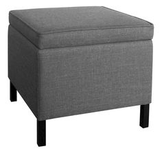 Room Essentials Storage Ottoman Grey