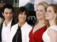 All star cast: Nora Ephron with cast members of the film Julie & Julia, from left to right, Chris Messina, Meryl Streep and Amy Adams