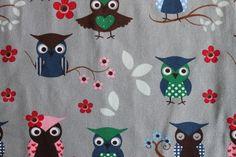 Stenzo Kids,  gezellige gekleurde uilen , tricot stof
