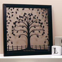 Personalised Floating Traditional Family Tree Wall Art with Floral Des – Urban Twist Family Tree Designs, Family Tree Art, Personalised Family Tree, Floating Frame, Traditional Design, Artwork Prints, Paper Cutting, Floral Design, Wall Art