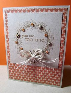 Playing with Cards: Wreathed Fall Season, I Card, Gift Wrapping, Wreaths, Seasons, Play, Frame, Inspiration, Autumn