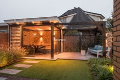 Would like to know about do it yourself shed plans? Then here is without doubt the right place! Small Backyard Gardens, Backyard Landscaping, Brick Shed, Barn Style Shed, Patio Shade, Garden Gazebo, Modern Garden Design, Outdoor Sheds, Outdoor Living
