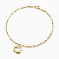 Elsa Peretti® Open Heart bracelet in gold, large. Tiffany Bracelets, Diamond Bracelets, Heart Bracelet, Bangles, Elsa Peretti, Tiffany & Co., Bracelet Designs, Jewelry Collection, 18k Gold