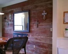 amazing living room built ins reclaimed wood tv | Old barn siding wall.... Amazing | For the Home in 2019 ...