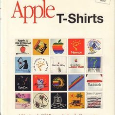 See this image on My Favorite Apple: A Yearbook of History of Apple Computer and the T shirts. Photos of over 1000 shirts. Apple Mac Computer, Steve Jobs Apple, Ronald Wayne, Steve Wozniak, Apple Ii, Mac Collection, Tech T Shirts, Guide Book, History