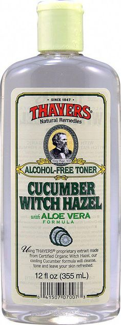 Thayers Witch Hazel Aloe Vera Formula Cucumber -- 12 fl oz - Vitacost #aloeveraskincare Witch Hazel For Skin, Thayers Witch Hazel, Vaseline Beauty Tips, Organic Formula, Cucumber Beauty, Aloe Vera Skin Care, Oil Free Foundation, Alcohol Free Toner, Beauty Tips For Face