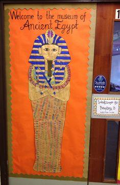 Ancient Egypt door display