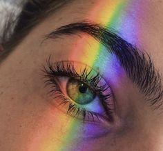 Be a rainbow in someone elses ____________ fashiongram aesthetic aestheticstyle rainbow eyes lips hair grunge cute women girls Aesthetic Eyes, Gay Aesthetic, Rainbow Aesthetic, Aesthetic Images, Aesthetic Collage, Aesthetic Makeup, Aesthetic Wallpapers, Aesthetic Grunge, Aesthetic People