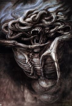 The Great Beast by H.R. Giger Poltergeist II: The Other Side concept art, 1986