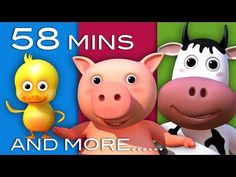Old MacDonald Had A Farm & More Nursery Rhymes! | 32 Videos | 58 Minutes Long | 3D Animation in HD - YouTube