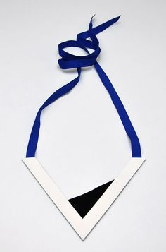 Aumorfia | Polygons | SS14 | V leather necklace side A