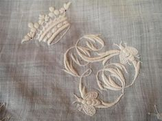 This would be beautiful on a bed! antique French monogrammed linen bedding, bed linen monograms, monogrammed linens, bed linens monograms, monogram, embroidery, antique linen southern heirlooms, 2017 to do list monogrammed duvet LK, ma Maison bedroom, French style monogram fonts, southern sophistication, bed linens, monogrammed bedding,