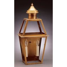 Northeast Lantern Uxbridge 2 Light Outdoor Flush Mount Finish: Raw Brass, Shade Type: Clear Seedy