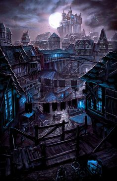 a collection of inspiration for settings, npcs, and pcs for my sci-fi and fantasy rpg games. hopefully you can find a little inspiration here, too. Fantasy City, Fantasy Places, Fantasy Kunst, Fantasy World, Fantasy Village, High Fantasy, Dark Fantasy Art, Fantasy Concept Art, Fantasy Artwork