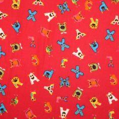 Kinderstoffe Baumwoll - Buchstaben Rot