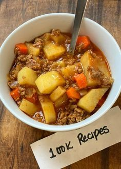 Slow Cooker Poor Man's Stew - l™ Slow Cooker Stew Recipes, Beef Soup Recipes, Easy Casserole Recipes, Slow Cooker Beef, Ground Beef Recipes, Crockpot Recipes, Cooking Recipes, Have Time, Easy Meals