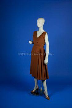 Dress, wool, Pauline Trigère designer, American, 1952-53