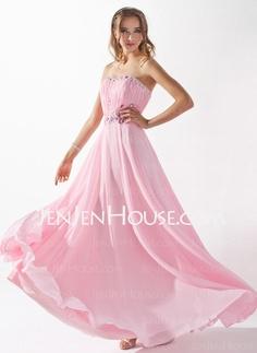 Evening Dresses - $149.99 - A-Line/Princess Sweetheart Sweep Train Chiffon  Charmeuse Evening Dresses With Ruffle  Beading (017005597) http://jenjenhouse.com/A-line-Princess-Sweetheart-Sweep-Train-Chiffon-Charmeuse-Evening-Dresses-With-Ruffle-Beading-017005597-g5597