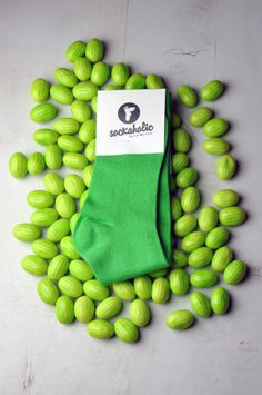 Green #sockaholic #verde #green #feelthecolor #candy #sweet #cool #socks #color #melon