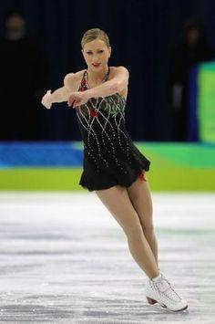 Joannie Rochette 2010 Olympics short  -Black Figure Skating / Ice Skating dress inspiration for Sk8 Gr8 Designs.