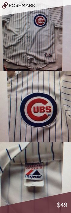 Majestic Athletic Chicago Cubs Xl Used by my husband once Majestic Shirts Tees - Short Sleeve